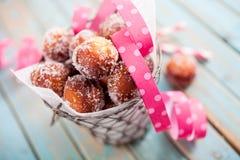 糖油炸圈饼 库存照片