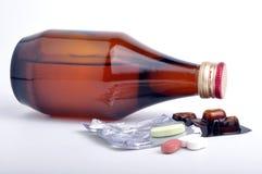 糖浆片剂 免版税库存图片