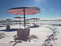 糖海滩在冬天 免版税库存图片