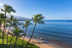 糖海滩Kihei毛伊夏威夷美国 免版税库存照片