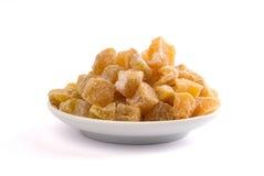 糖煮的姜片 库存照片