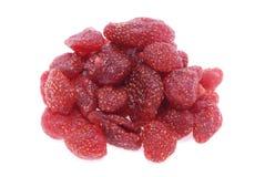 糖煮的干草莓 库存图片