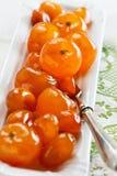 糖煮的柑橘水果 免版税库存图片