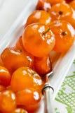 糖煮的柑橘水果 库存图片