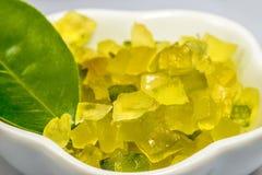 糖煮的柠檬皮 免版税图库摄影