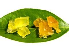 糖煮的桔子和柠檬皮 库存图片