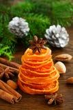 糖煮的桔子圣诞树  免版税库存图片