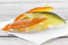 糖煮的桔子 免版税库存图片