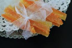 糖煮的橙皮 库存照片