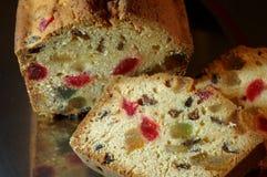 糖煮的水果蛋糕 免版税图库摄影