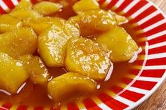 糖煮的白薯 免版税图库摄影