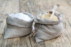 糖的各种各样的类型 免版税库存照片