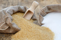 糖的各种各样的类型 免版税库存图片