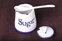 糖的器物 免版税库存照片
