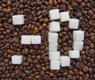 糖的滑稽的构成以意思号的形式 免版税图库摄影
