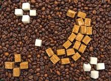 糖的滑稽的构成以月亮和星的形式 免版税库存图片