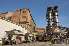 糖精炼厂 免版税库存照片