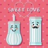 糖罐爱恋的夫妇  库存例证