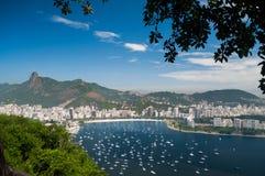 从糖面包山,里约热内卢的看法 免版税库存照片