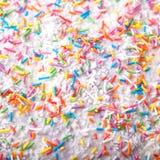 糖洒小点、装饰的蛋糕和bekery 库存照片