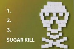 糖头骨危险 库存图片