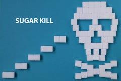 糖头骨危险 免版税图库摄影
