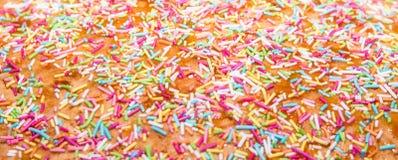 糖洒,蛋糕的装饰和bekery,很多sprinkl 库存照片