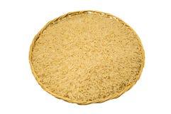 糙米或未磨光的米在篮子 免版税库存照片