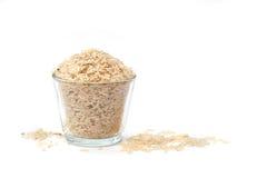 糙米或未磨光的米 图库摄影