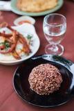 糙米或未磨光的米 库存照片