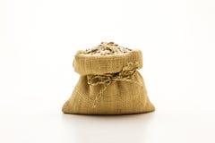 糙米混杂的白色(茉莉花)米 免版税图库摄影