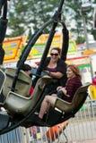 系列享受狂欢节乘驾在集市 免版税库存图片