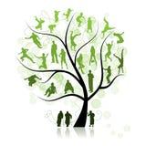 系列亲戚结构树 图库摄影