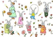 系列兔子 库存例证
