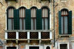系列威尼斯视窗 免版税库存照片
