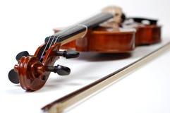 系列小提琴白色 免版税库存图片