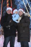 系列帽子圣诞老人年轻人 免版税库存照片