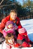 系列愉快的冬天 库存图片