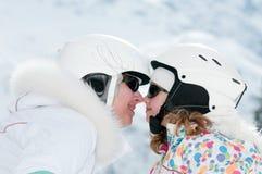 系列愉快的滑雪 库存图片