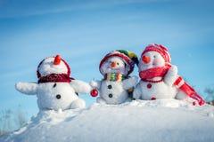 系列愉快的雪人 库存图片