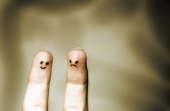 系列手指 免版税库存图片