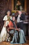 系列纵向维多利亚女王时代的著名人物 图库摄影