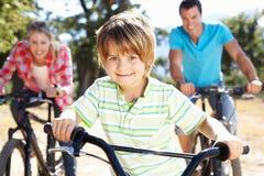 系列获得骑马的自行车乐趣 库存图片