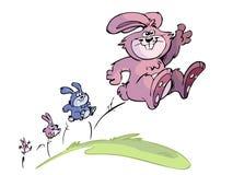 系列跳的兔子 皇族释放例证