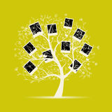 系族树设计,插入您的照片到框架 免版税库存图片
