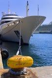系船柱黄色 库存照片
