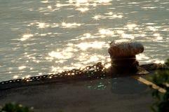 系船柱 免版税库存图片