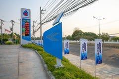 素辇,泰国2019年5月3日:PTT加油站 泰国的石油当局 免版税库存图片