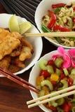 素食中国盘 库存照片
