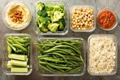 素食主义者膳食预习功课用煮熟的米 库存照片